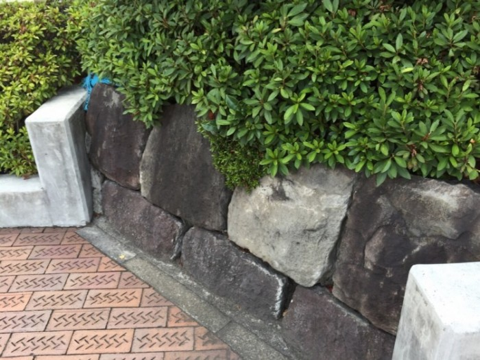 月見名所の名残-高輪石垣