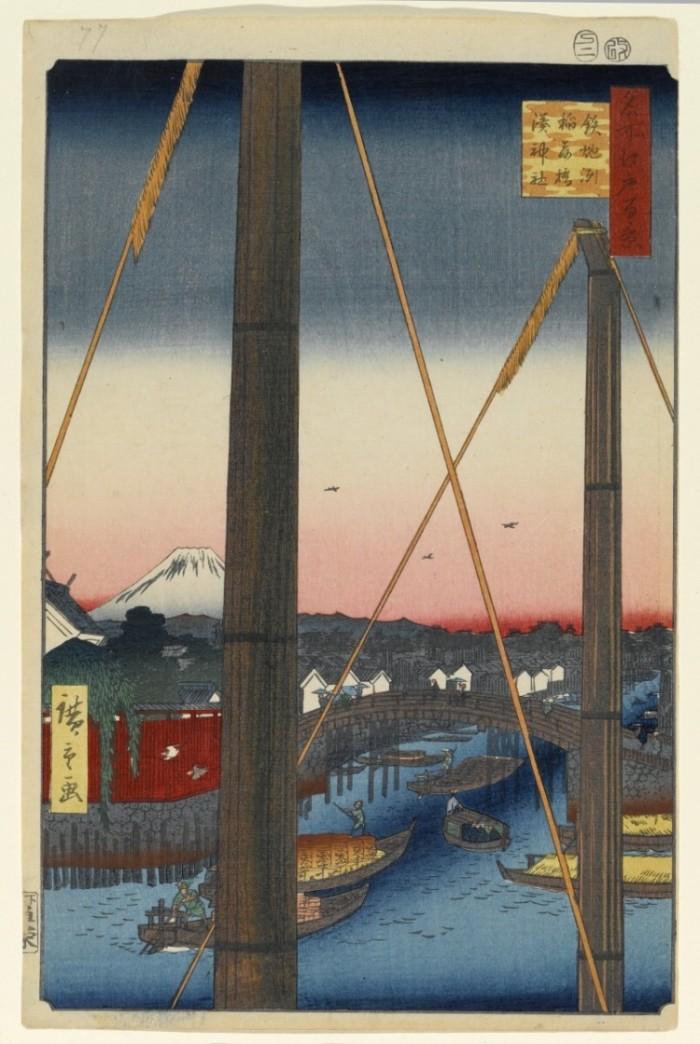 江戸百景鉄砲洲稲荷橋湊神社