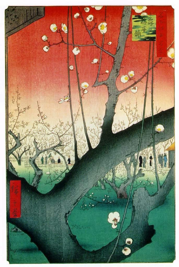 江戸時代の梅の名所−亀戸梅屋舗