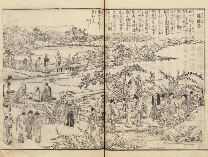 江戸名所図会に描かれた龍眼寺