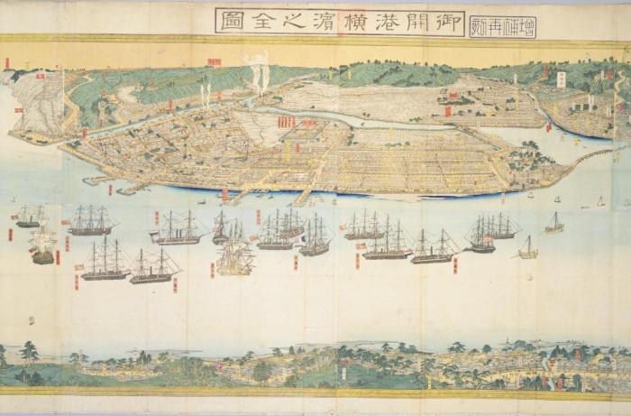 御開港横浜之全図