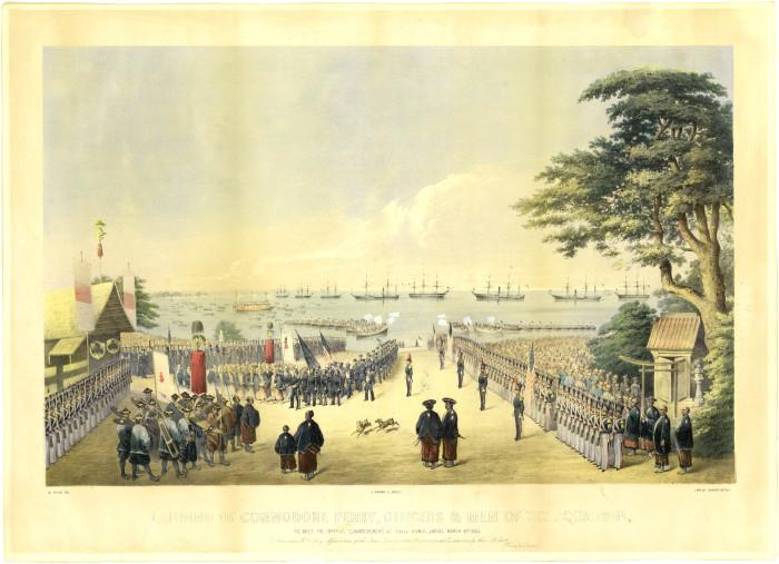 ウィルヘルム・ハイネによる横浜上陸の図